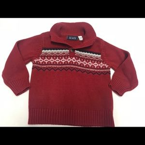 The children's place boys red sweater 18-24 months